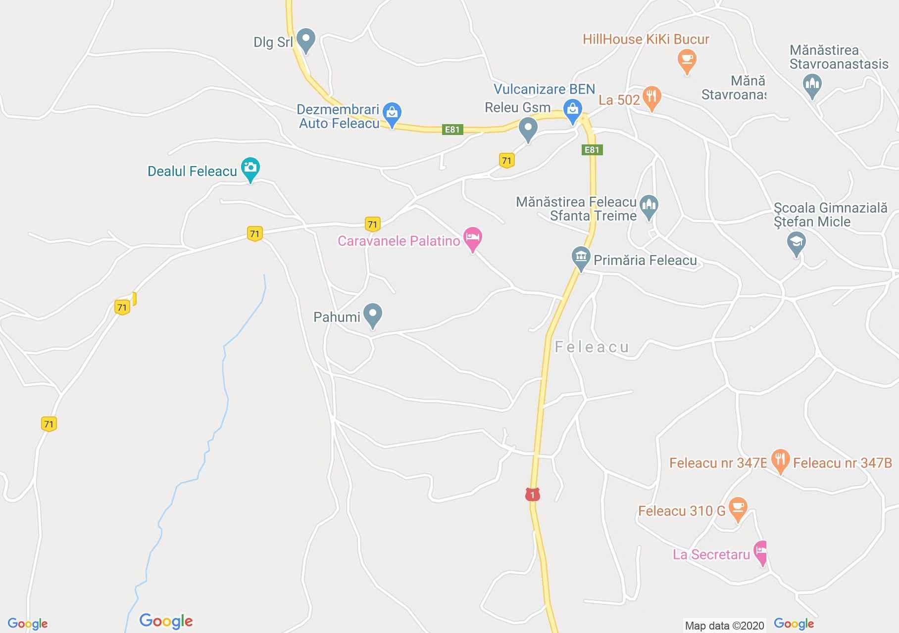 Feleacu, Harta turistică interactivă