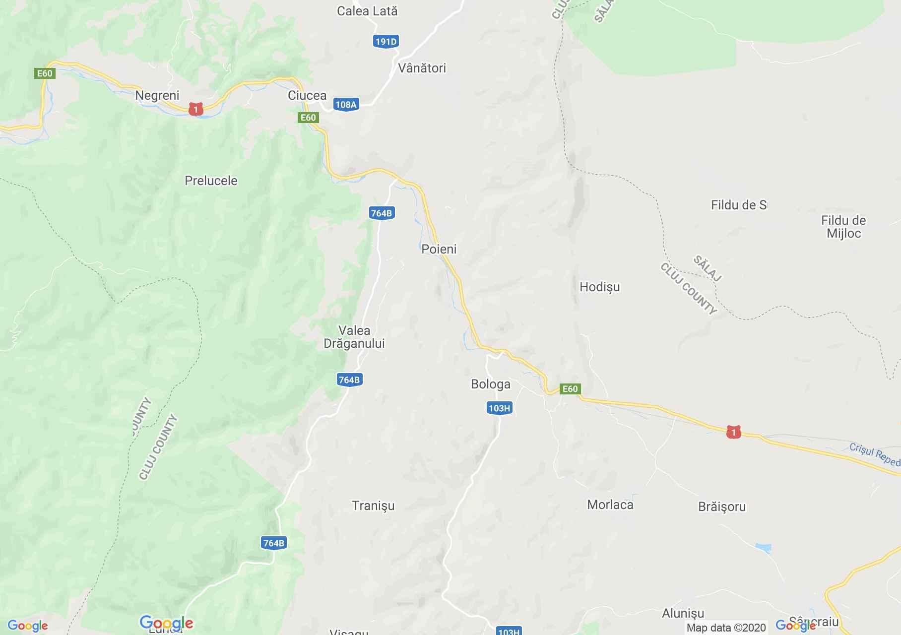Bologa, Interactive tourist map
