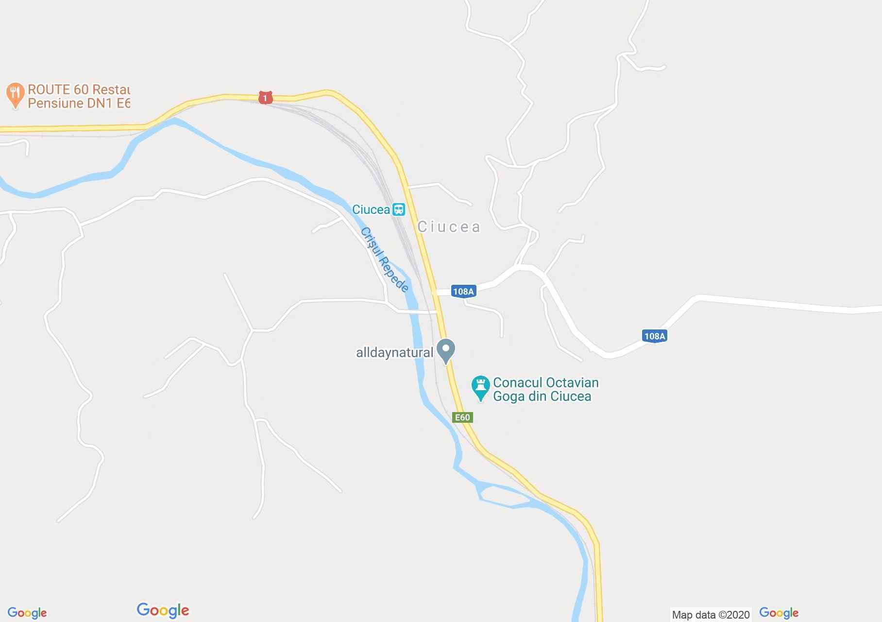 Csucsa interaktív turista térképe.