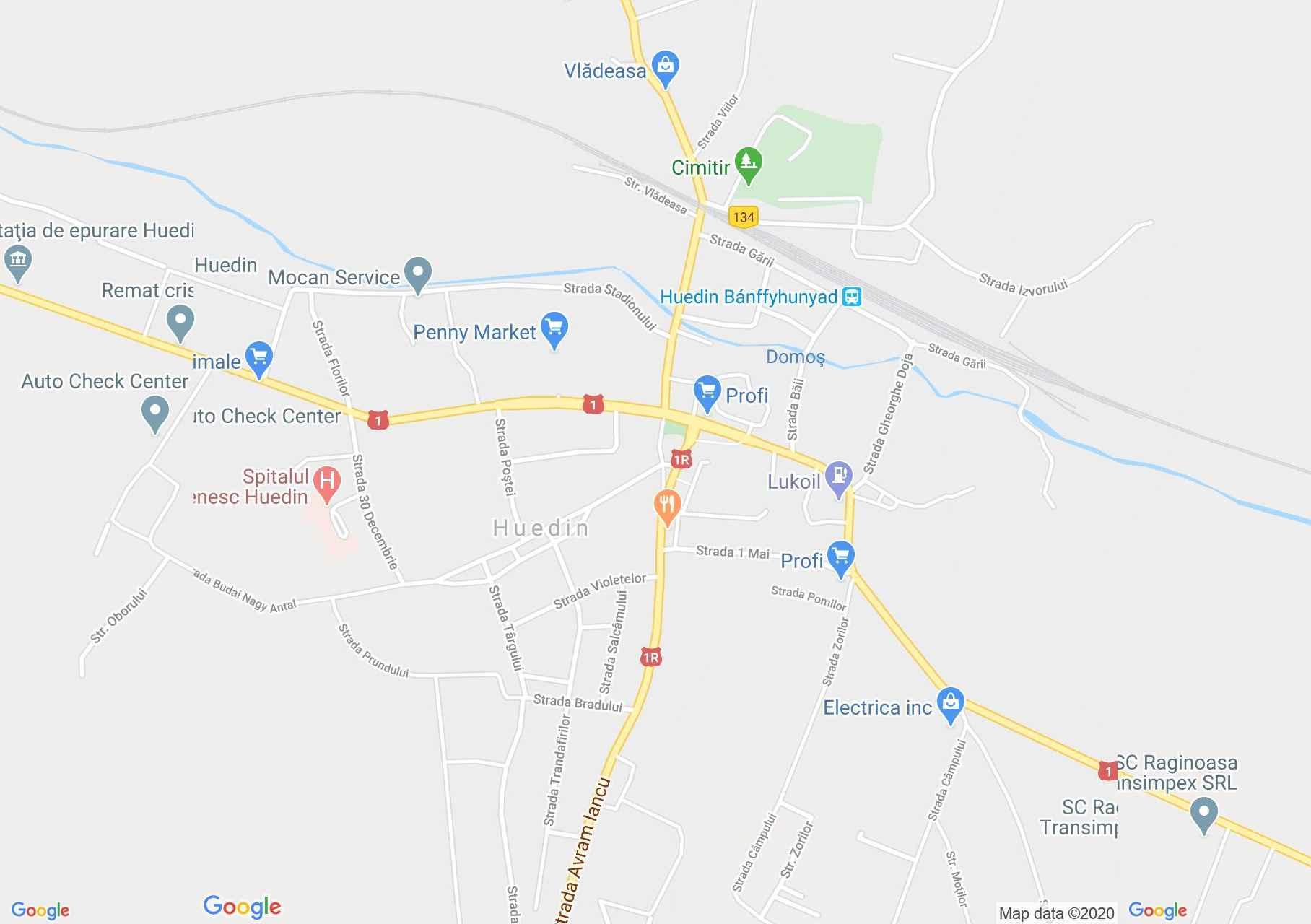 Huedin, Interactive tourist map