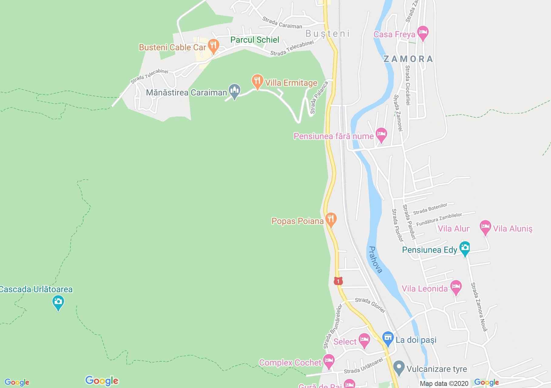 Buşteni, Harta turistică interactivă