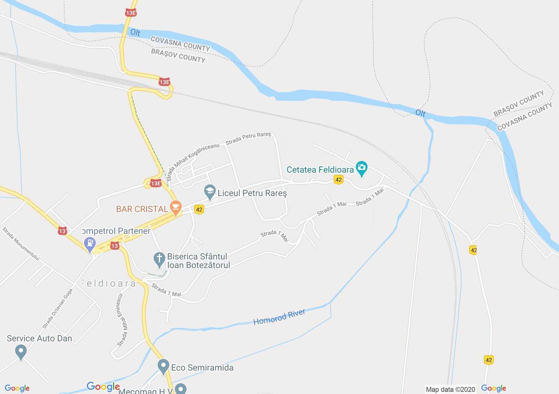 Feldioara, Harta turistică interactivă