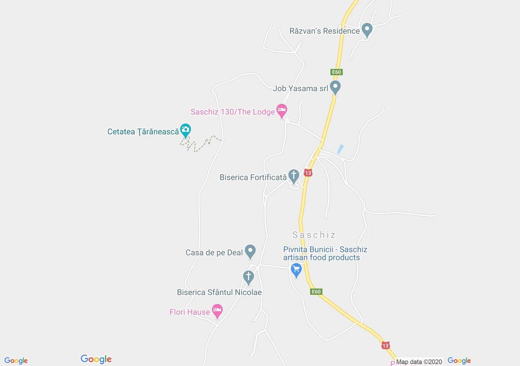 Saschiz, Interactive tourist map