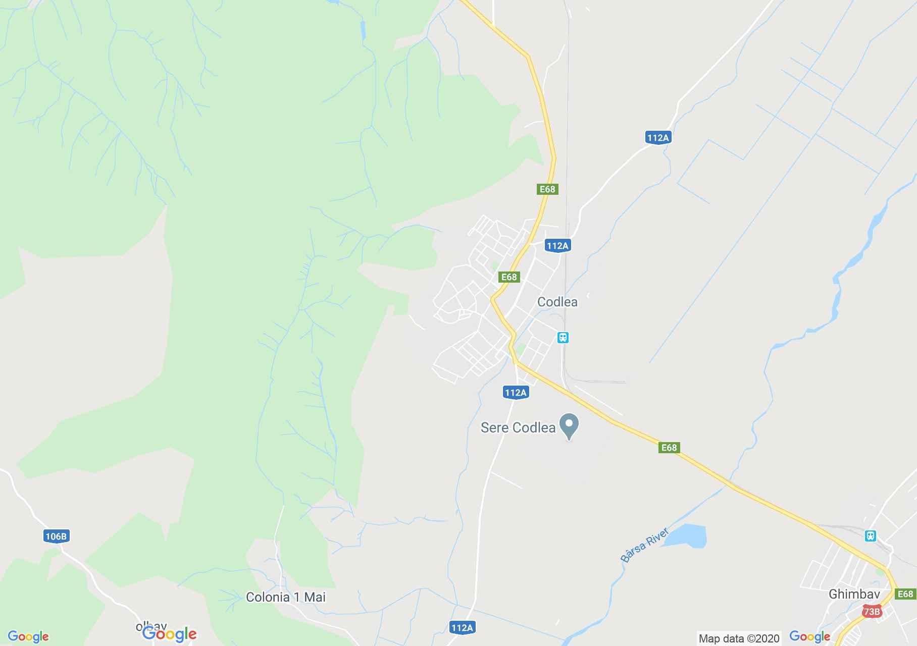 Codlea, Harta turistică interactivă