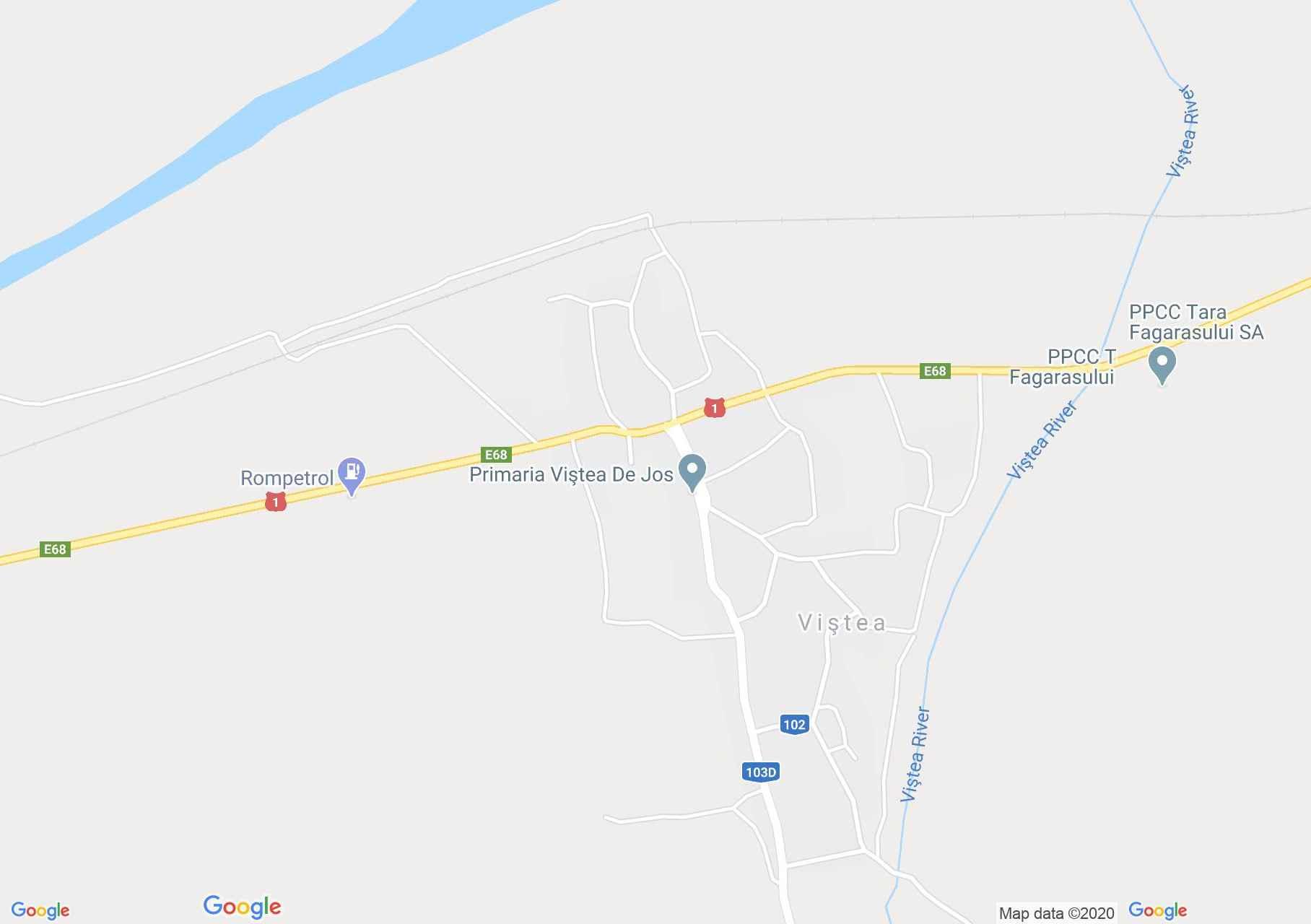 Viştea de Jos, Harta turistică interactivă