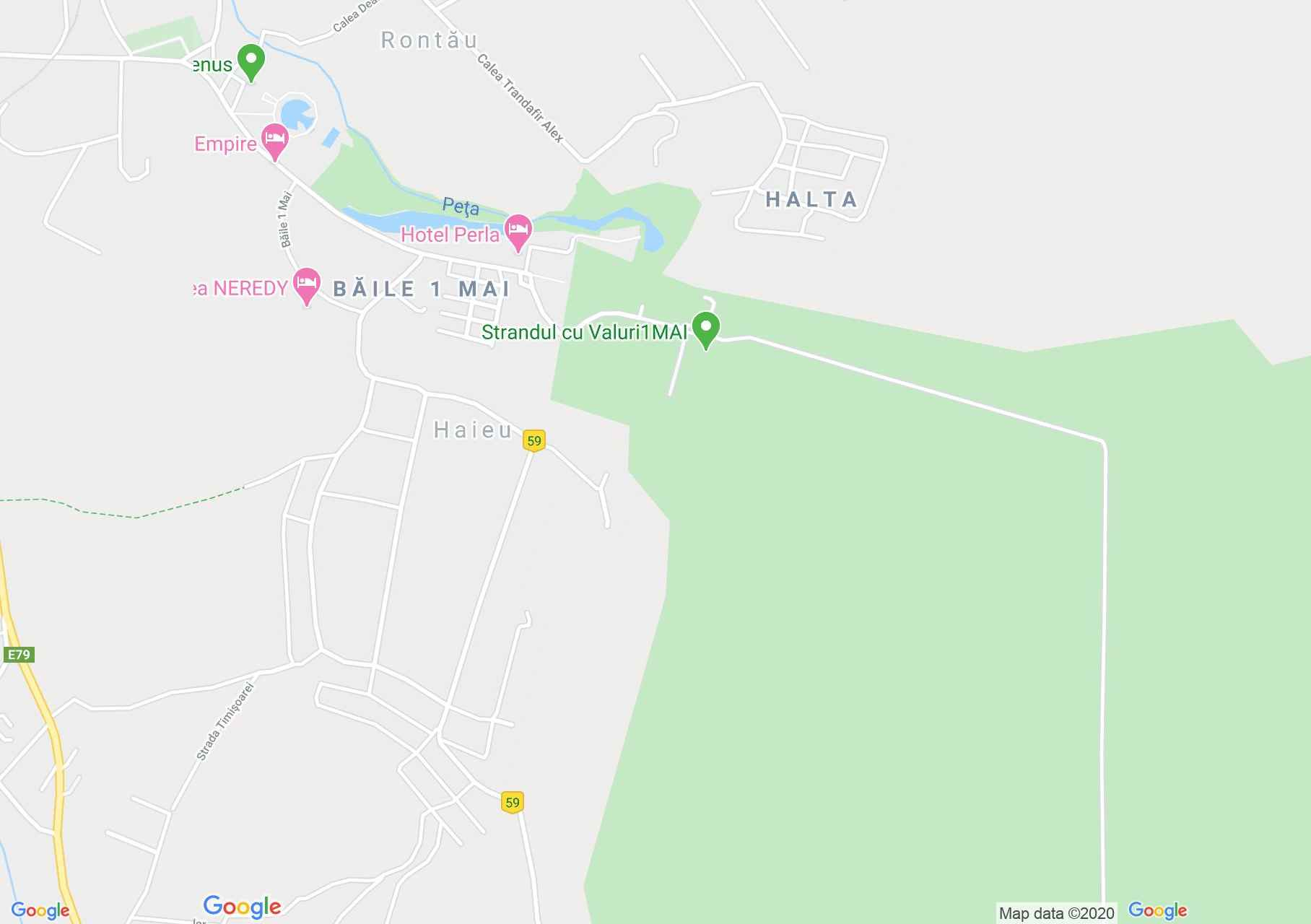 Băile 1 Mai, Interactive tourist map