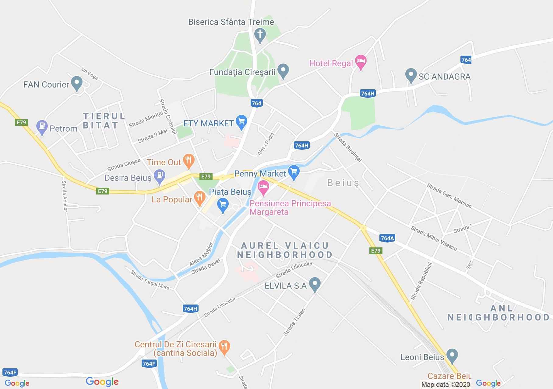 Beiuş, Interactive tourist map