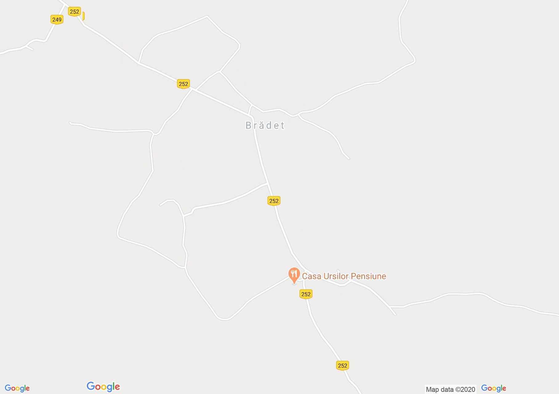Brădet, Harta turistică interactivă