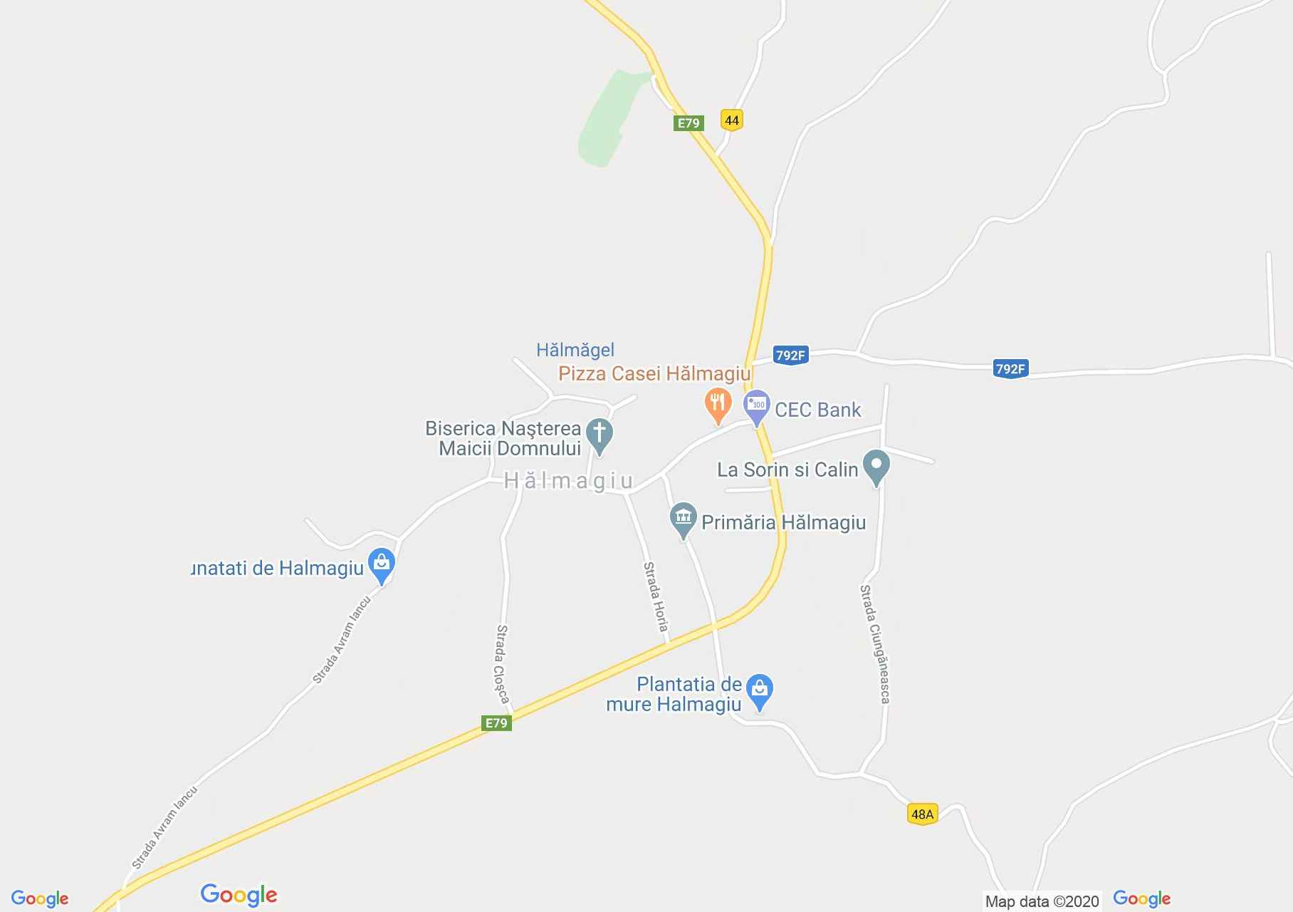 Hălmagiu, Harta turistică interactivă
