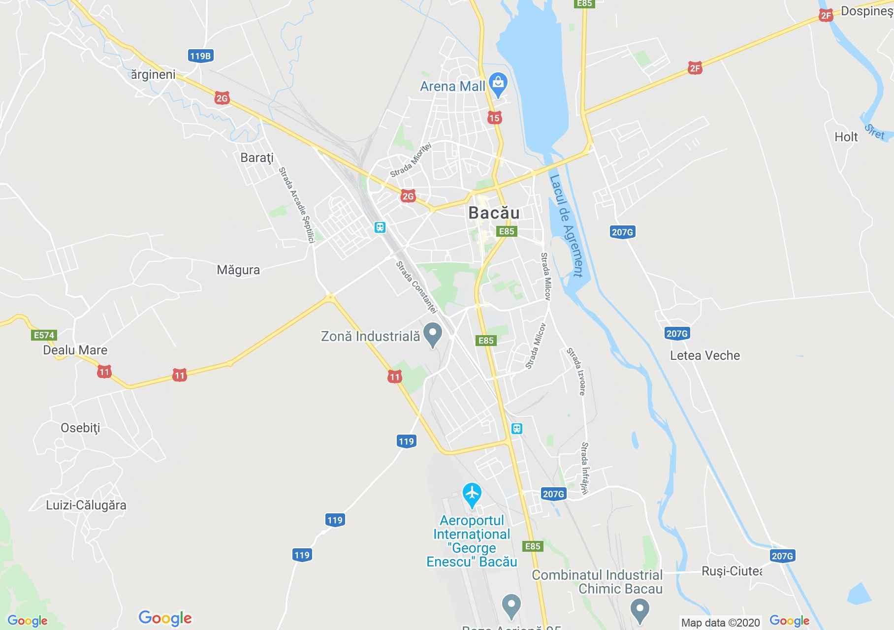 Bakó interaktív turista térképe.