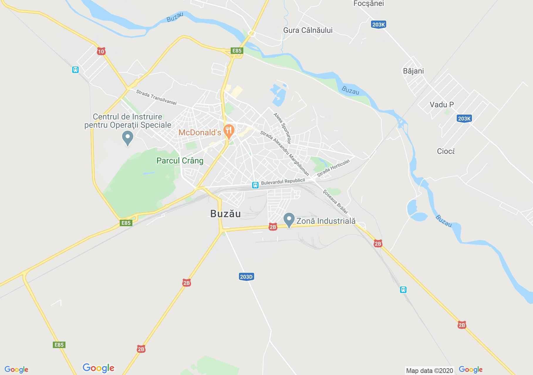 Buzău, Harta turistică interactivă