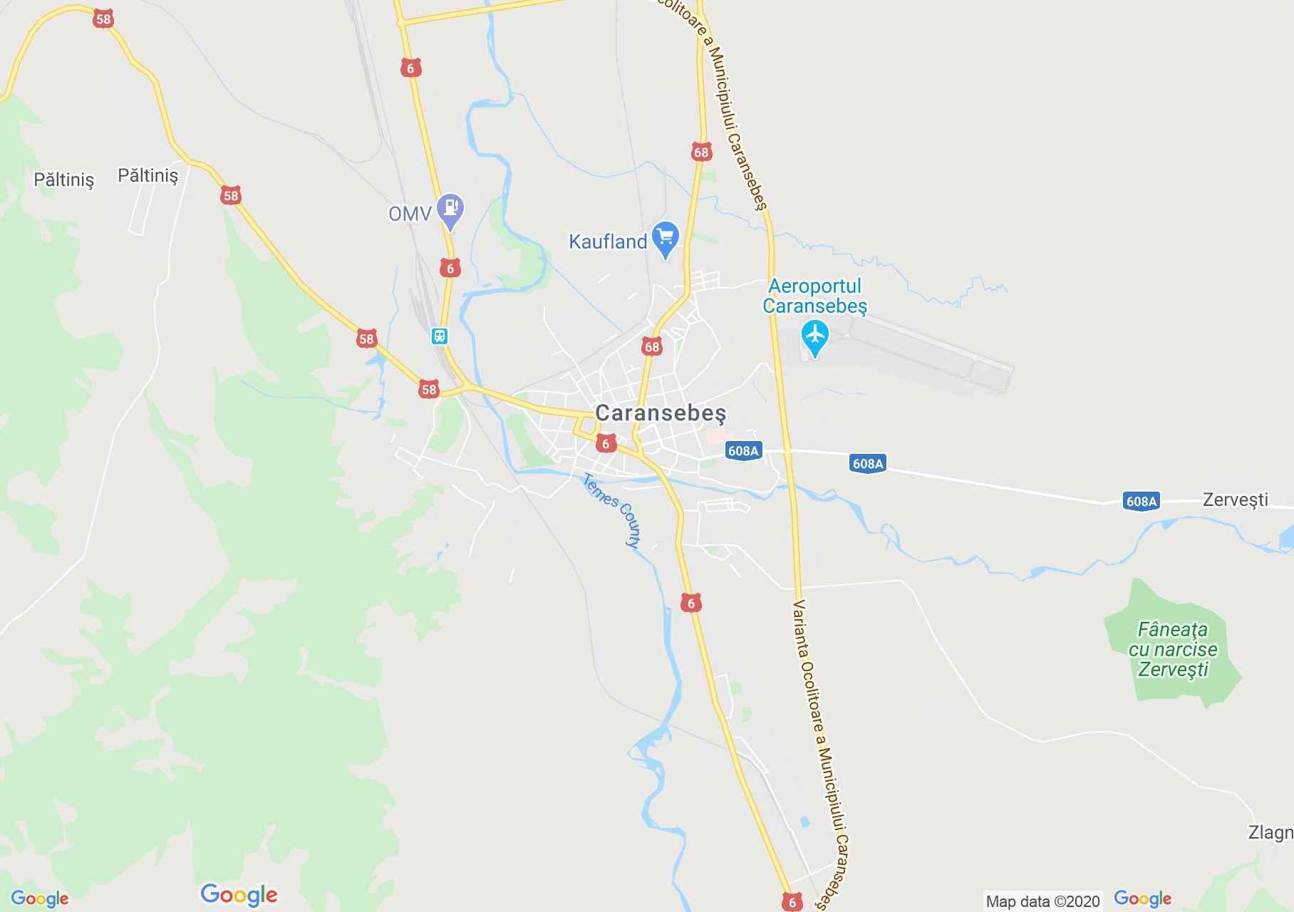 Caransebes Harta Turistică Interactivă