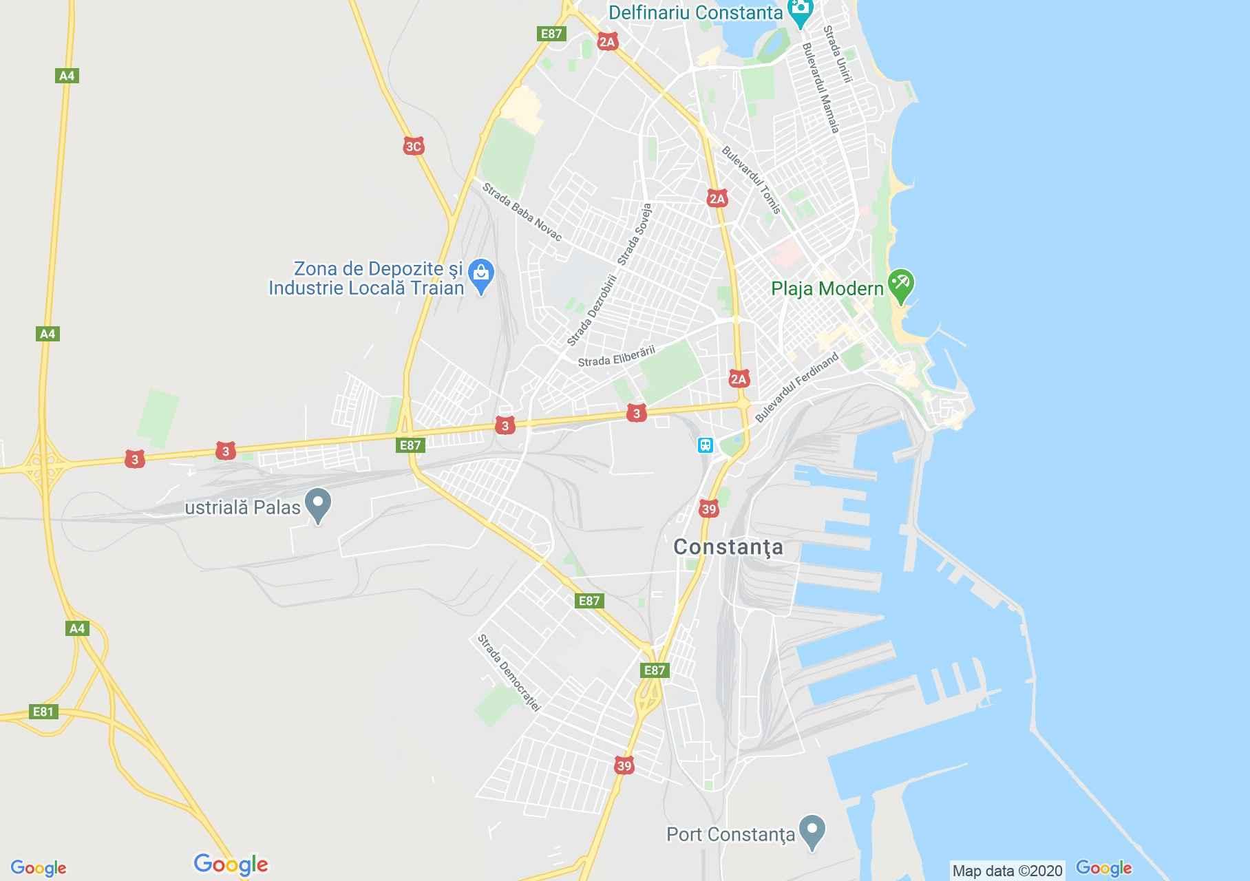 Constanţa, Interactive tourist map