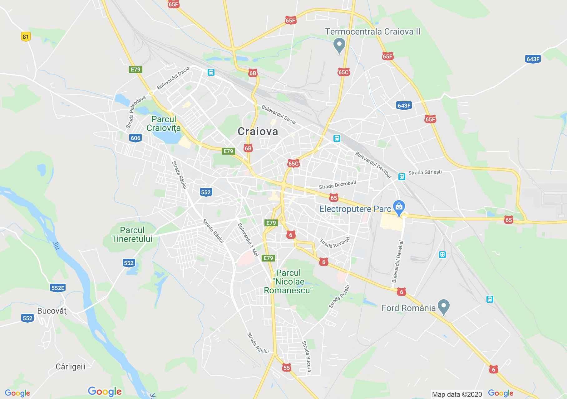 Craiova, Interactive tourist map