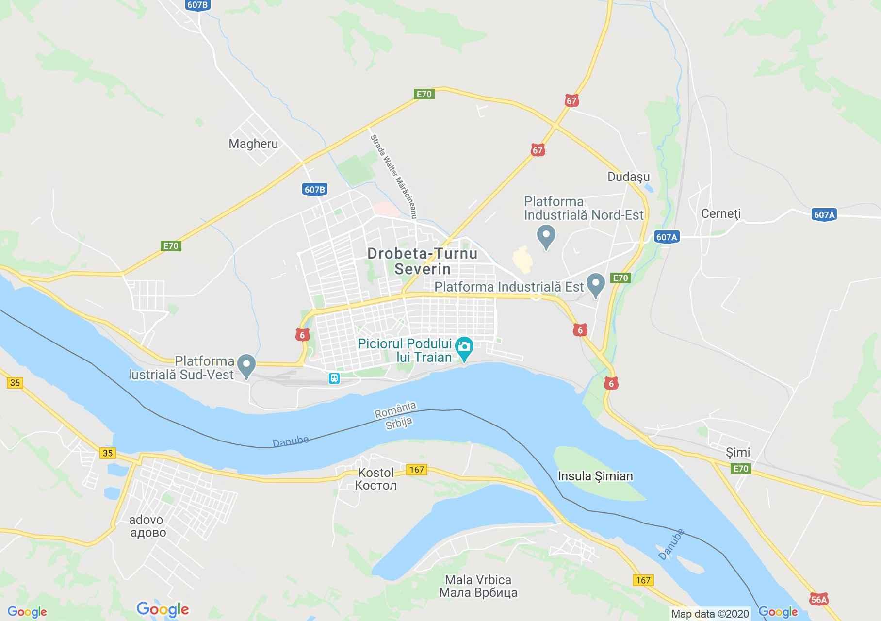 Drobeta-Turnu Severin, Harta turistică interactivă