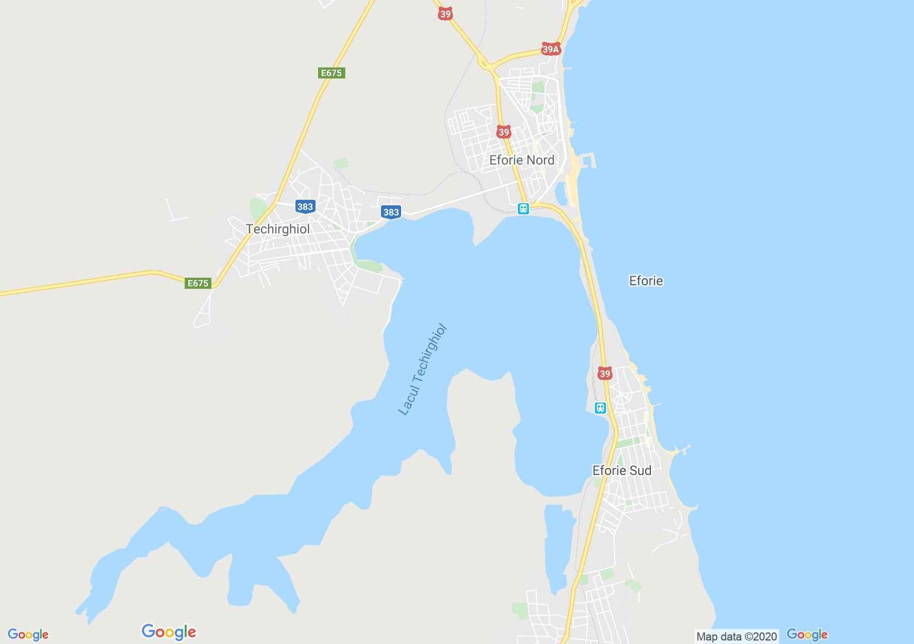 Eforie, Interactive tourist map