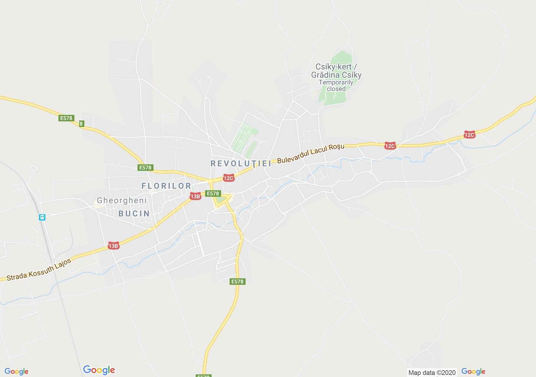 Gheorgheni, Interactive tourist map