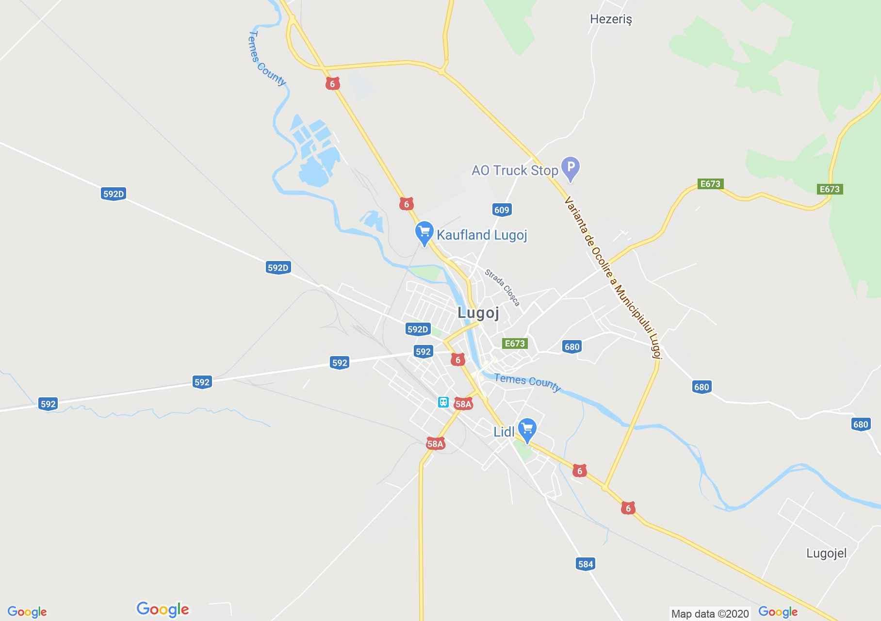 Lugoj, Interactive tourist map
