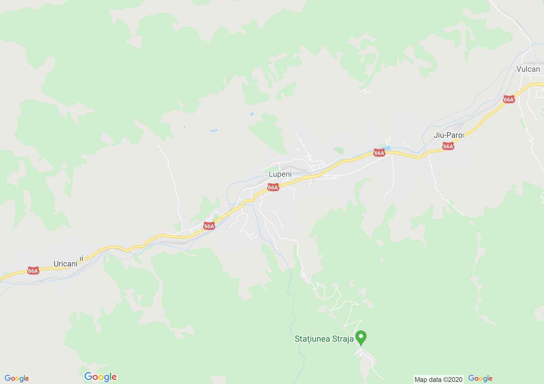Lupeni, Harta turistică interactivă