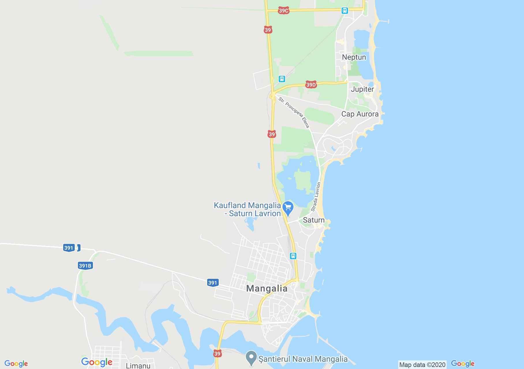 Mangalia, Interactive tourist map