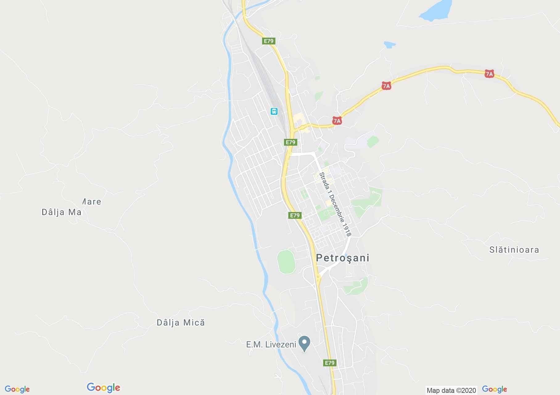Petrozsény interaktív turista térképe.