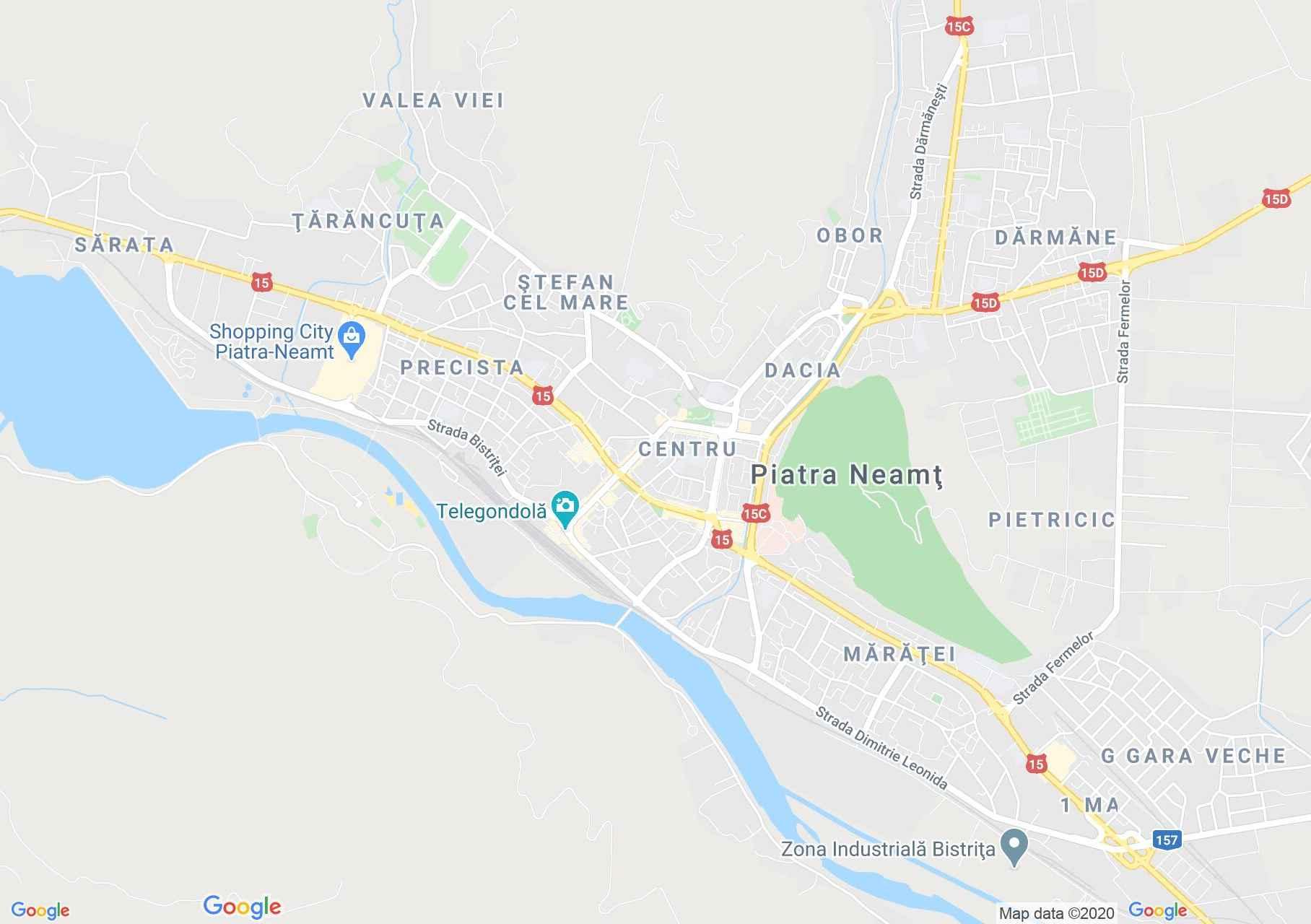 Piatra Neamţ, Harta turistică interactivă