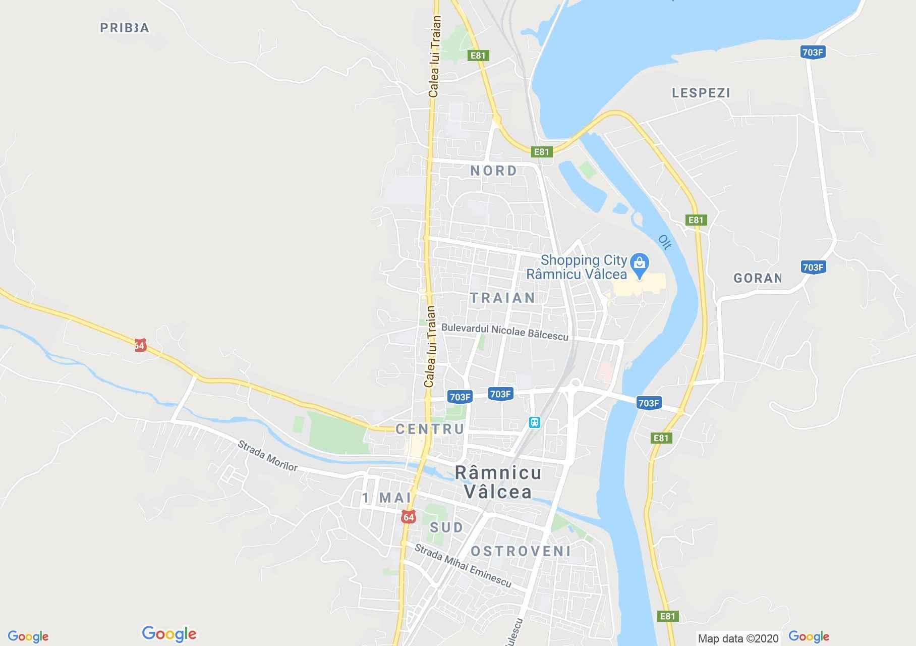 Râmnicu Vâlcea, Harta turistică interactivă