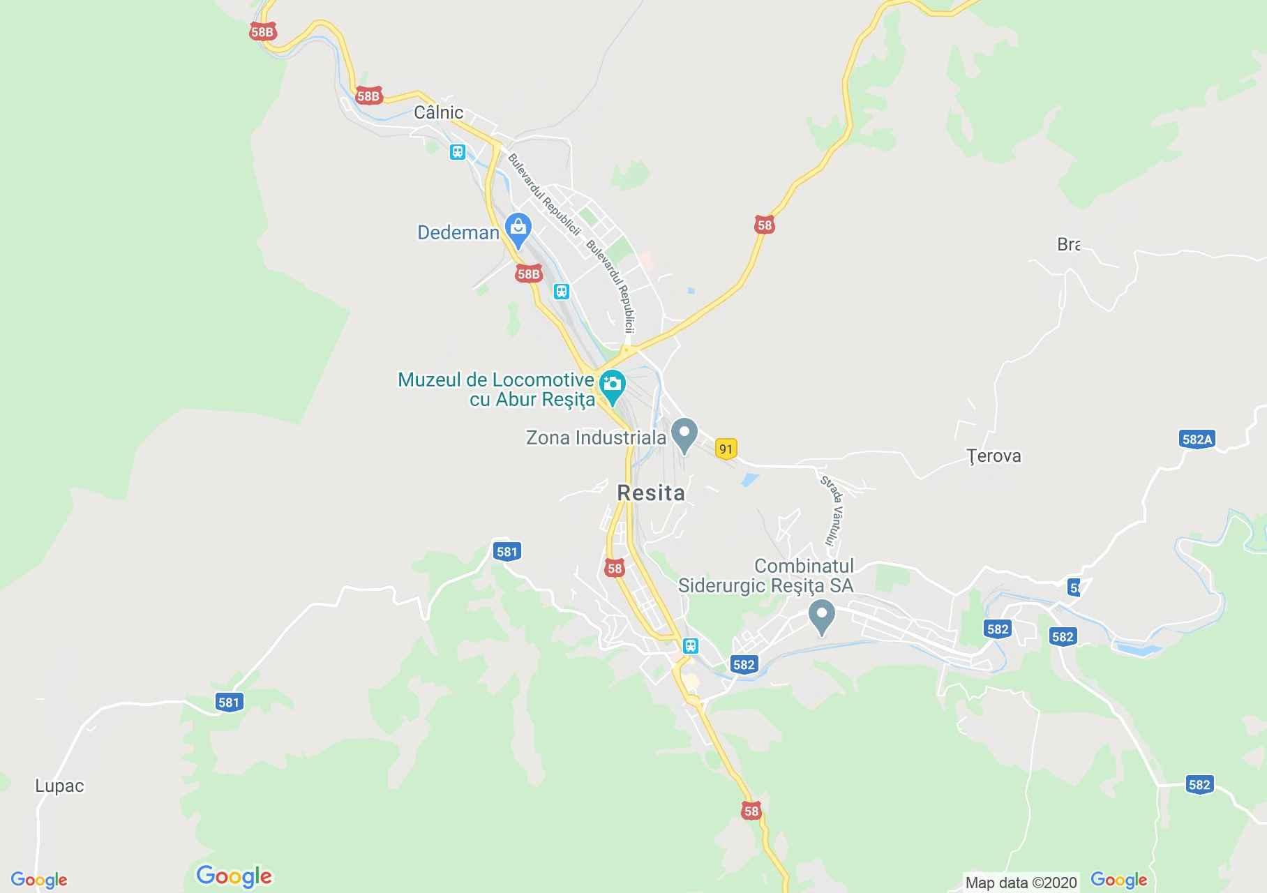 Reşiţa, Interactive tourist map