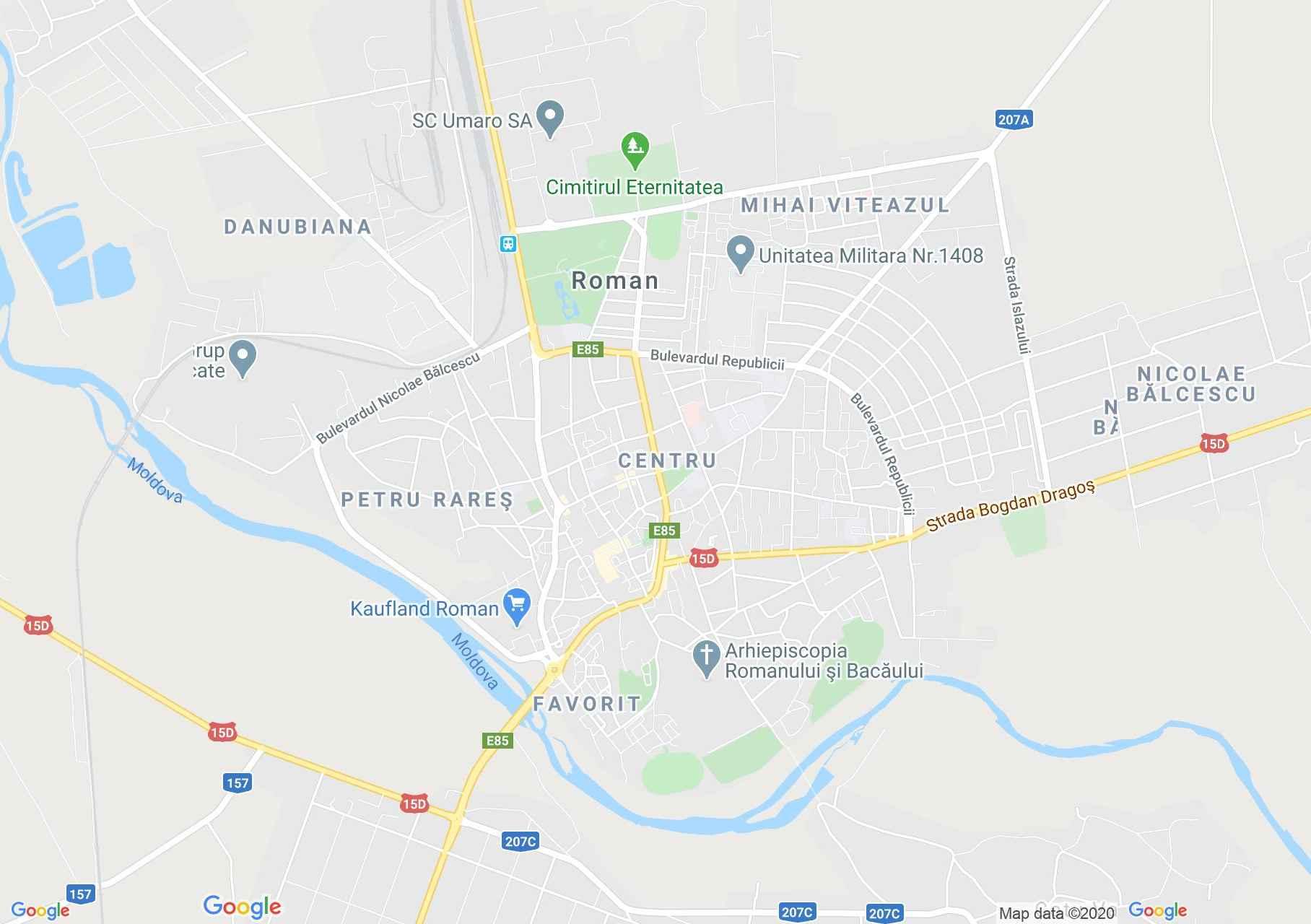 Roman, Harta turistică interactivă