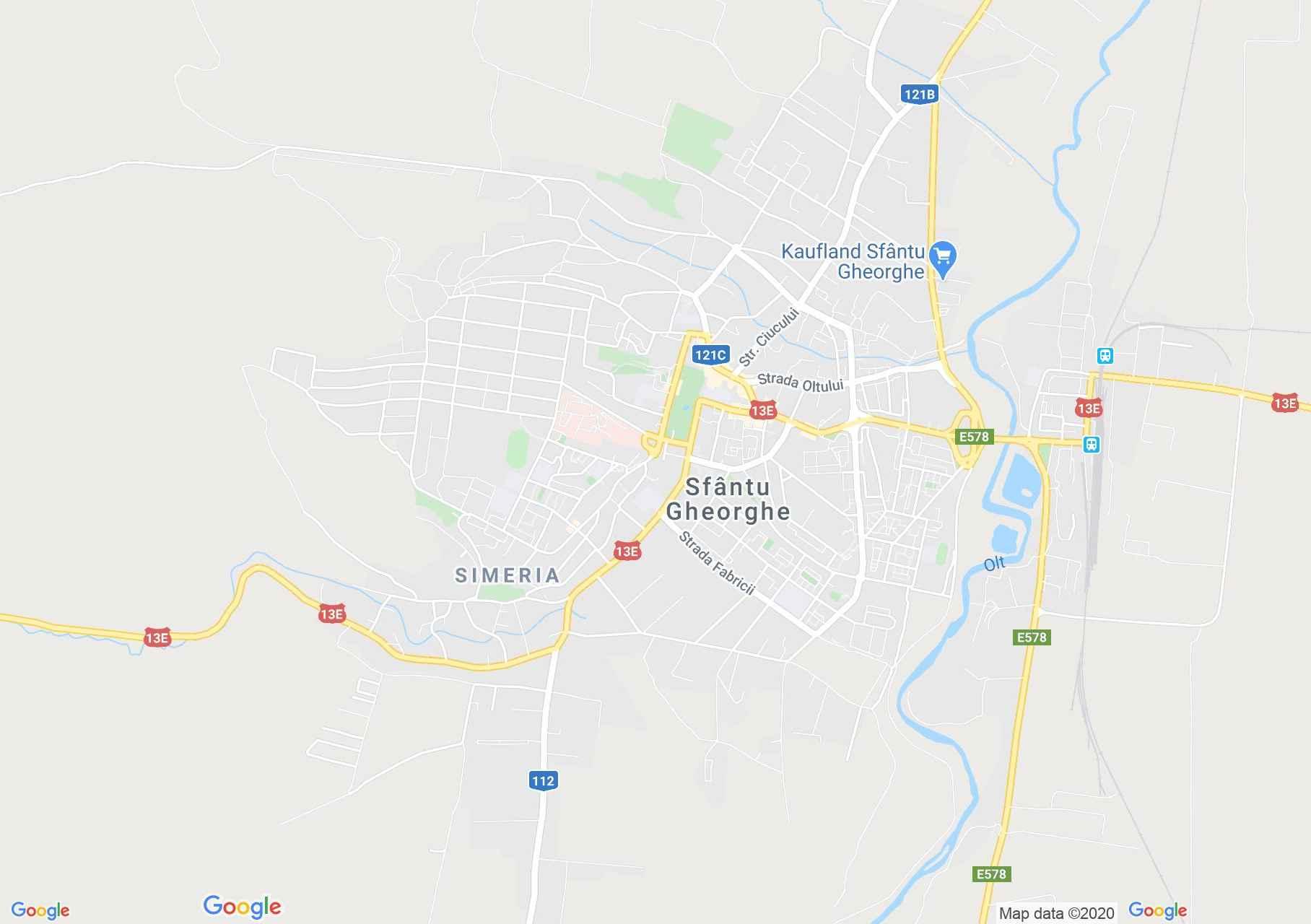 Sfântu Gheorghe, Interactive tourist map