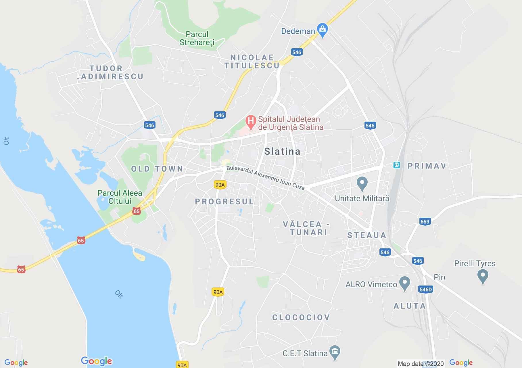 Szlatina interaktív turista térképe.