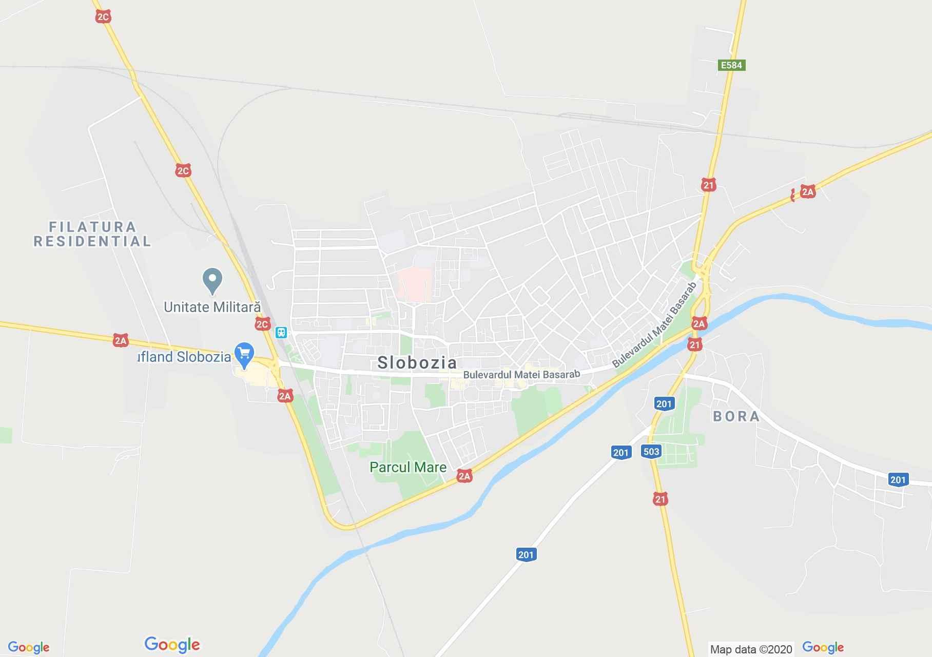 Slobozia, Harta turistică interactivă