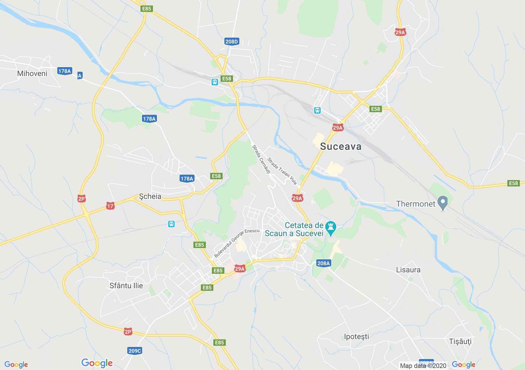 Suceava, Harta turistică interactivă