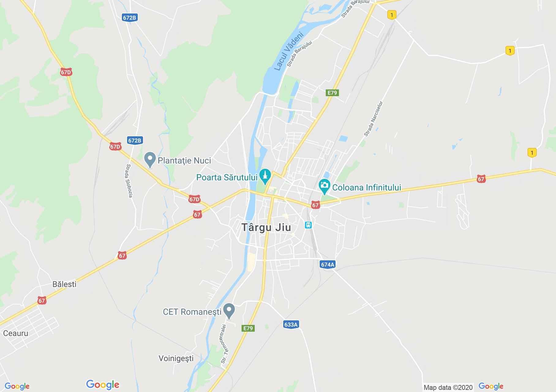 Targu Jiu Harta Turistică Interactivă