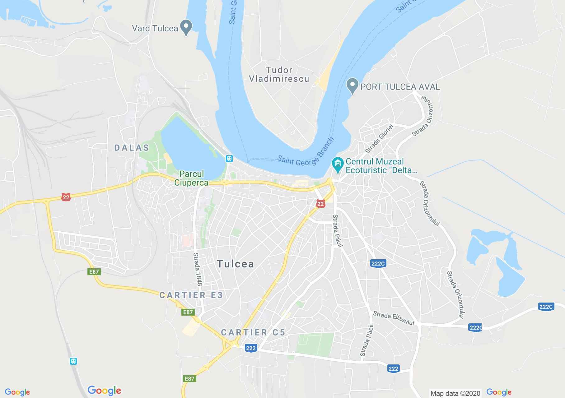 Tulcea, Interactive tourist map