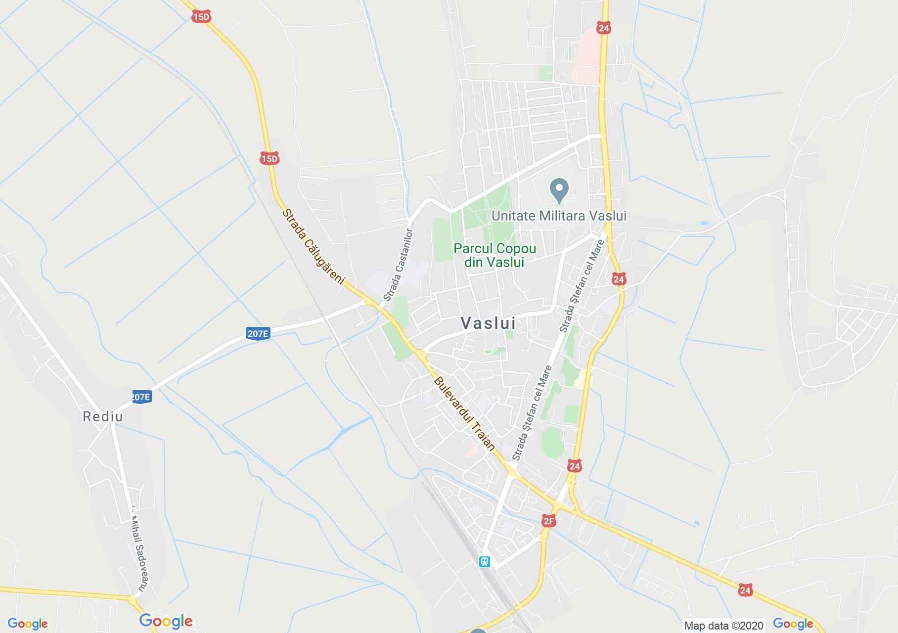 Vaslui, Harta turistică interactivă