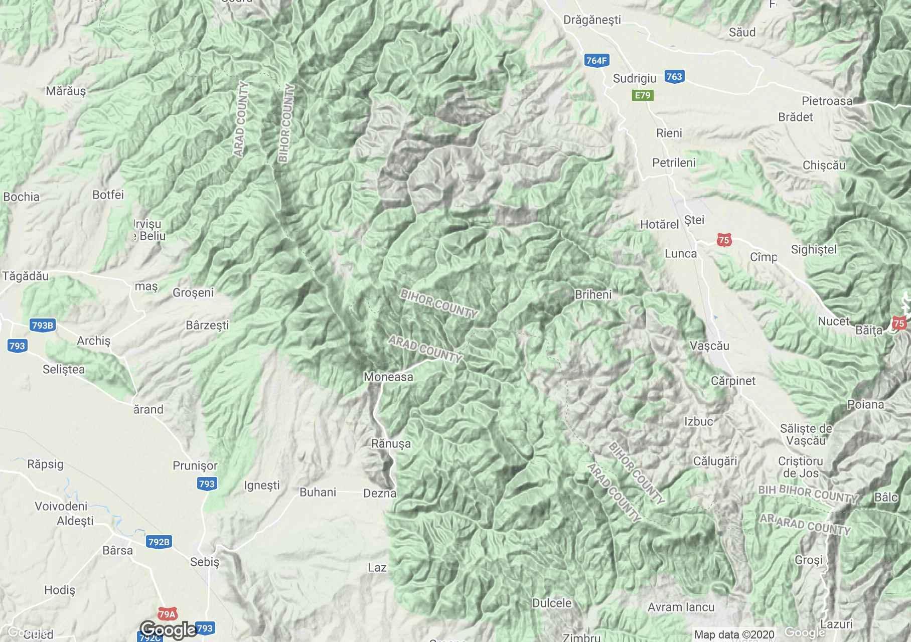 Apuseni: Munţii Codru Moma, Harta turistică interactivă