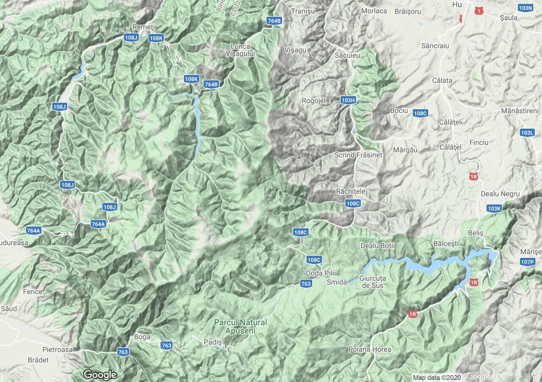 Apuseni: Vlădeasa Mountains, Interactive tourist map