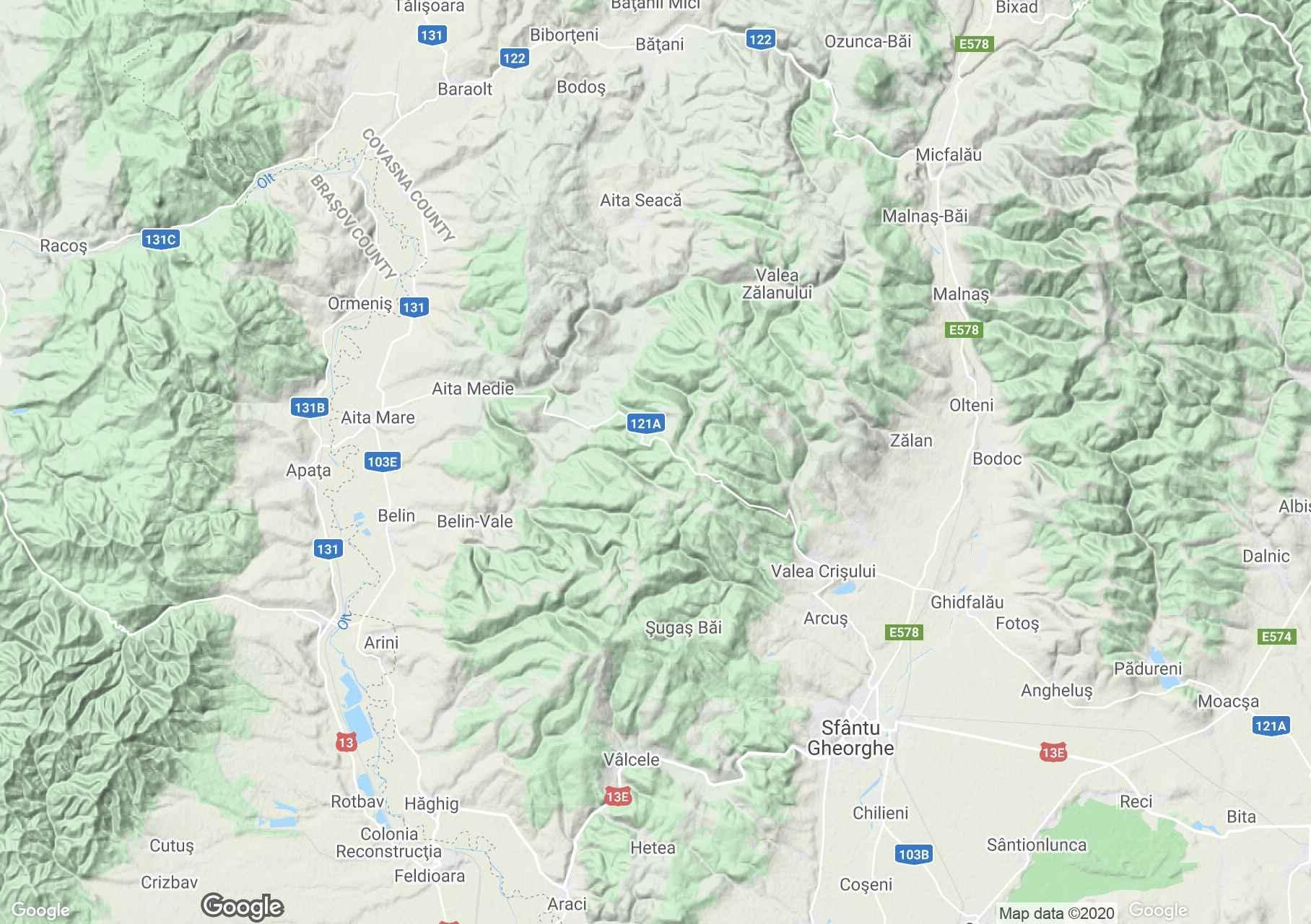 Baraolt Mountains, Interactive tourist map