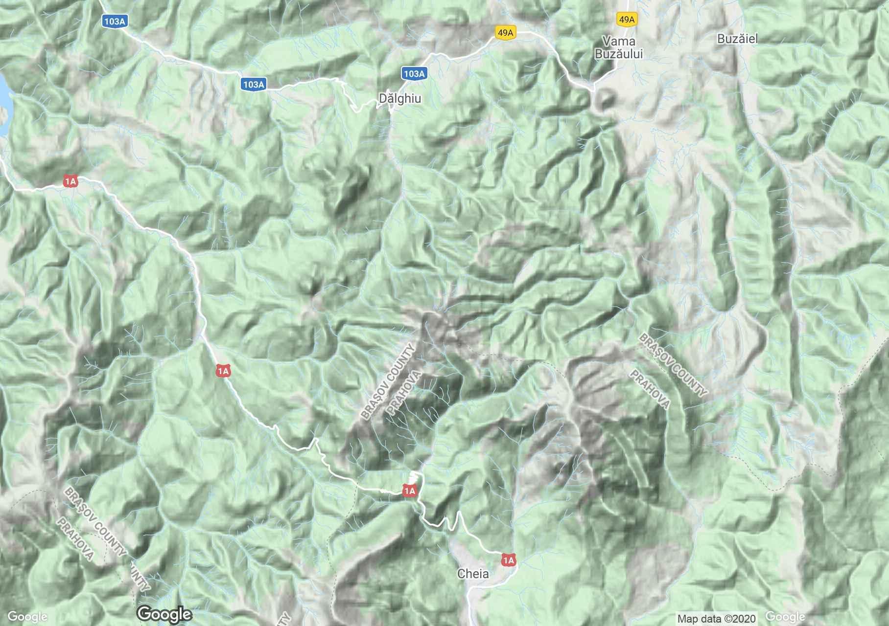 Munţii Ciucaş, Harta turistică interactivă