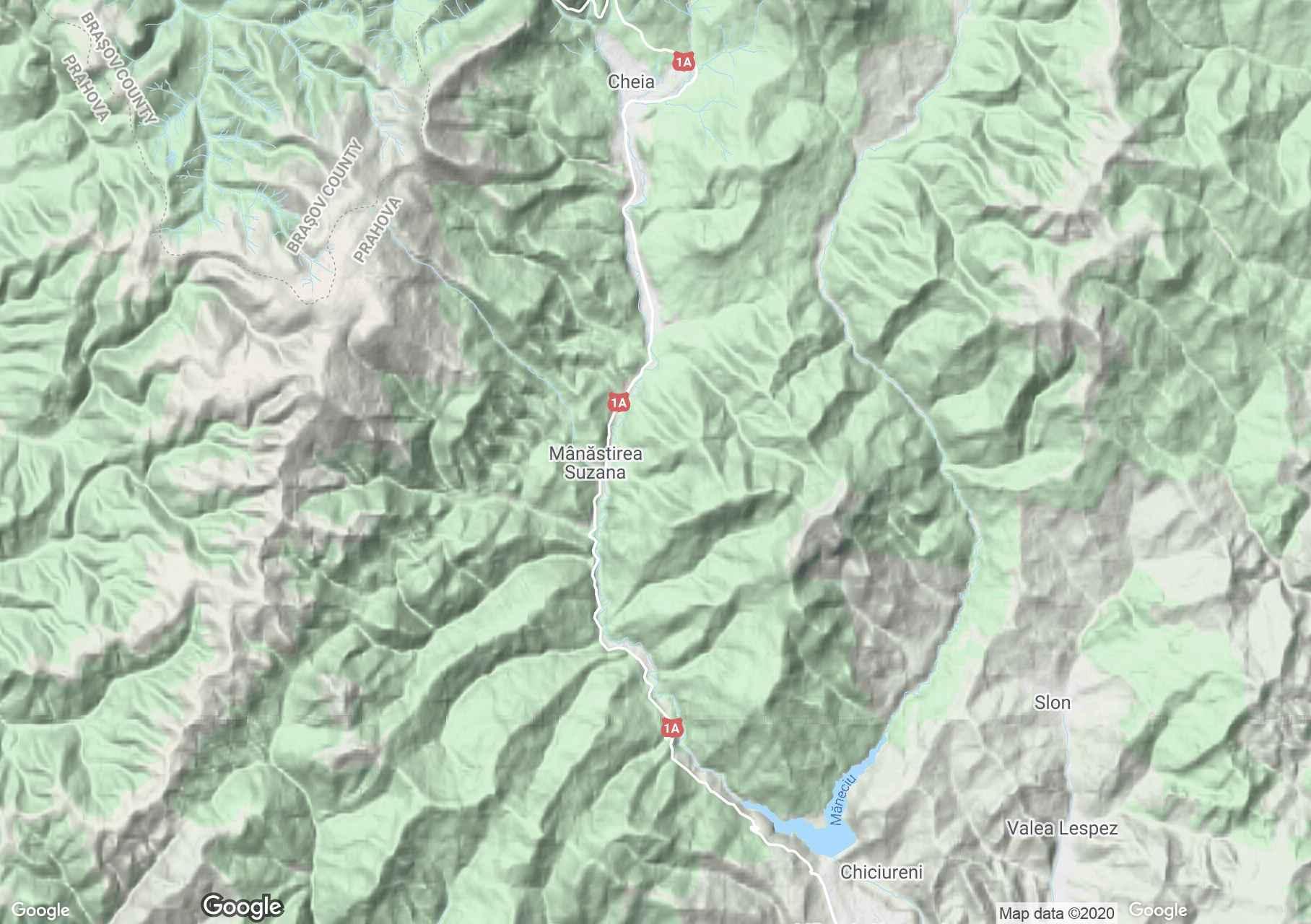 Clăbucet hegység interaktív turista térképe.