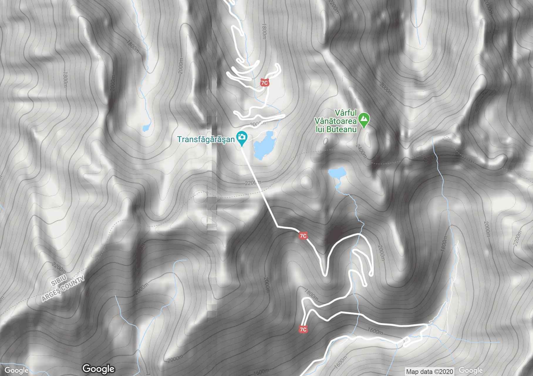 Munţii Făgăraş: Zona Bâlea, Harta turistică interactivă
