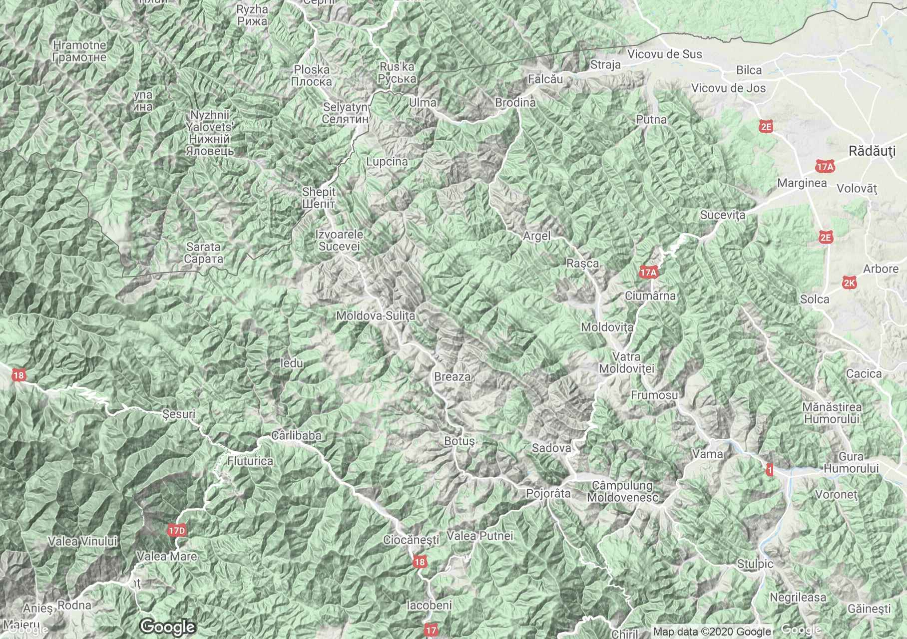 Obcina Feredeu Mountains, Interactive tourist map