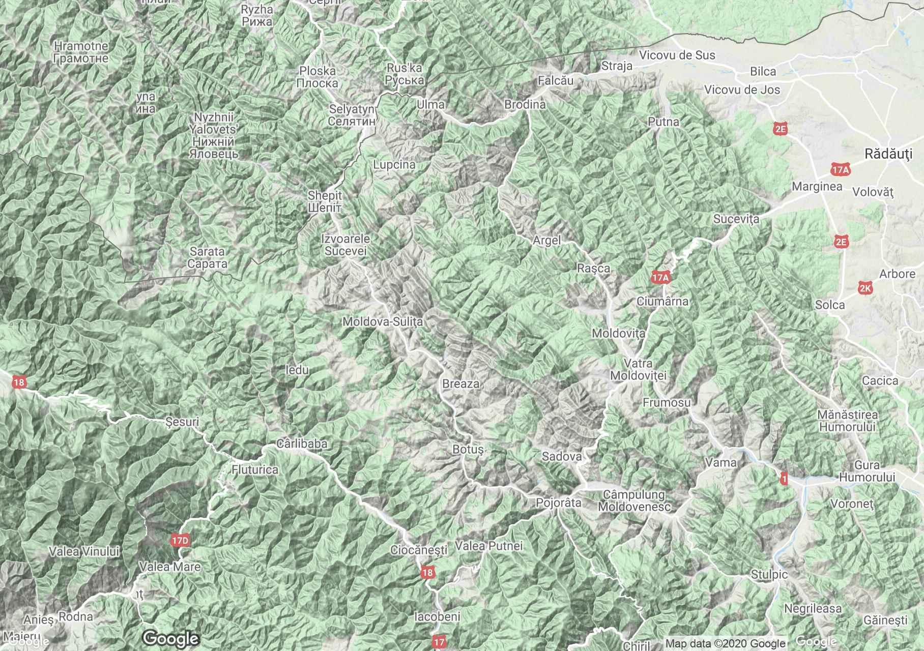 Obcina Feredeu, Harta turistică interactivă