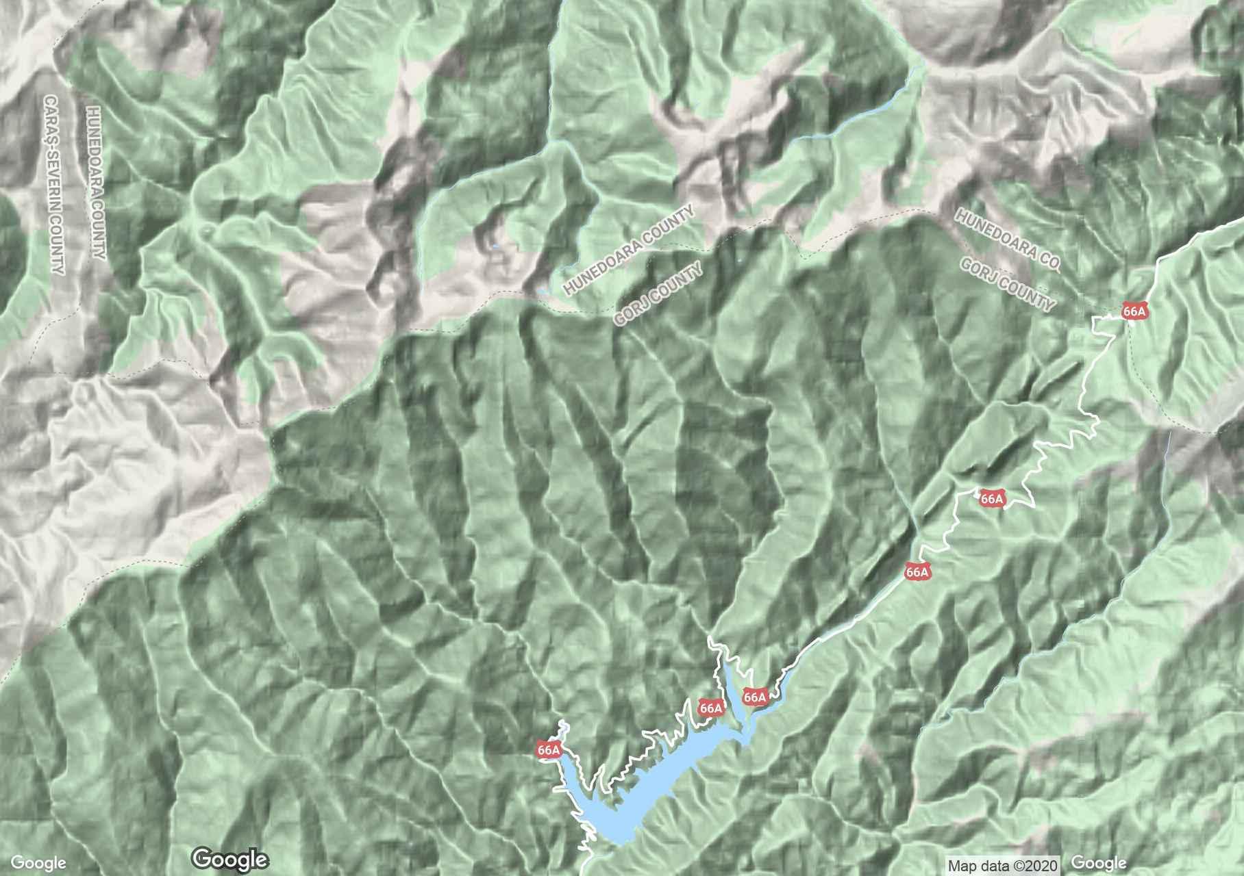 Godján-hegység interaktív turista térképe.