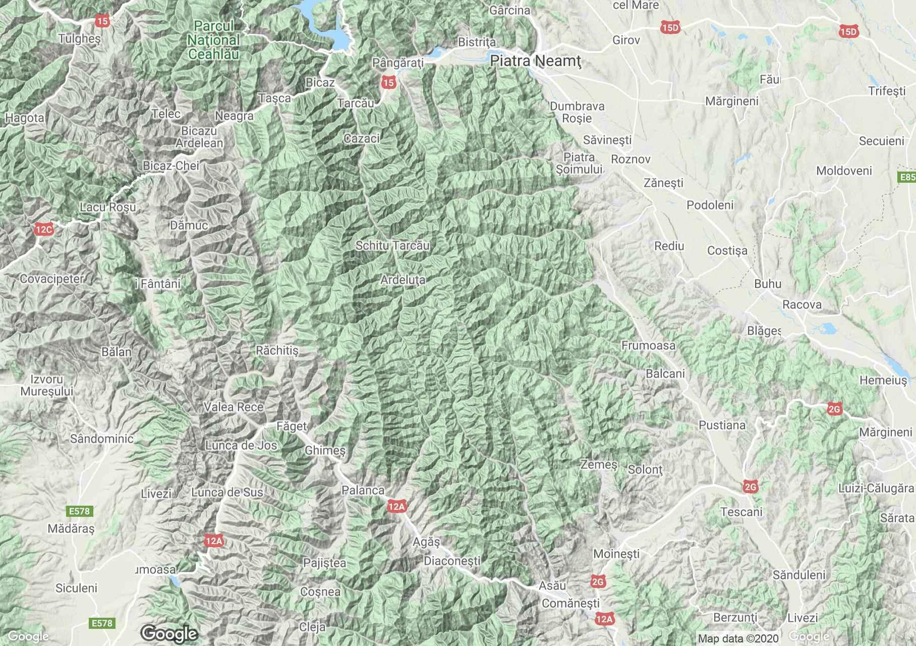 Munţii Gosmanu, Harta turistică interactivă