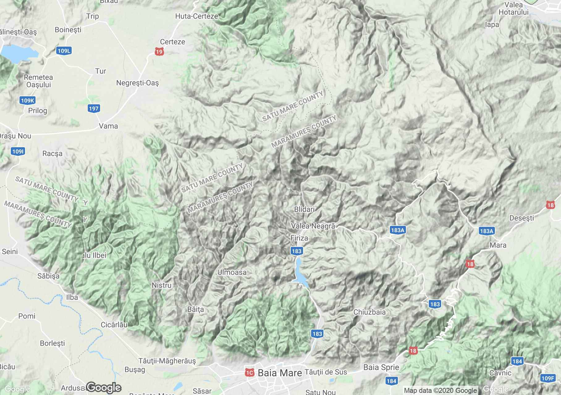 Gutâiului Mountains, Interactive tourist map
