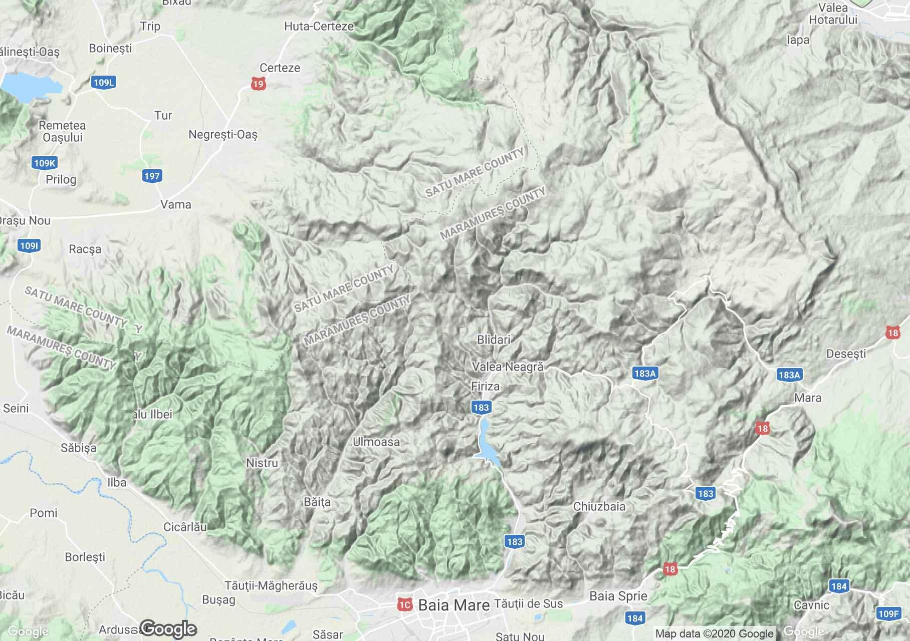 Gutâiului Mountains, Interactive tourist map