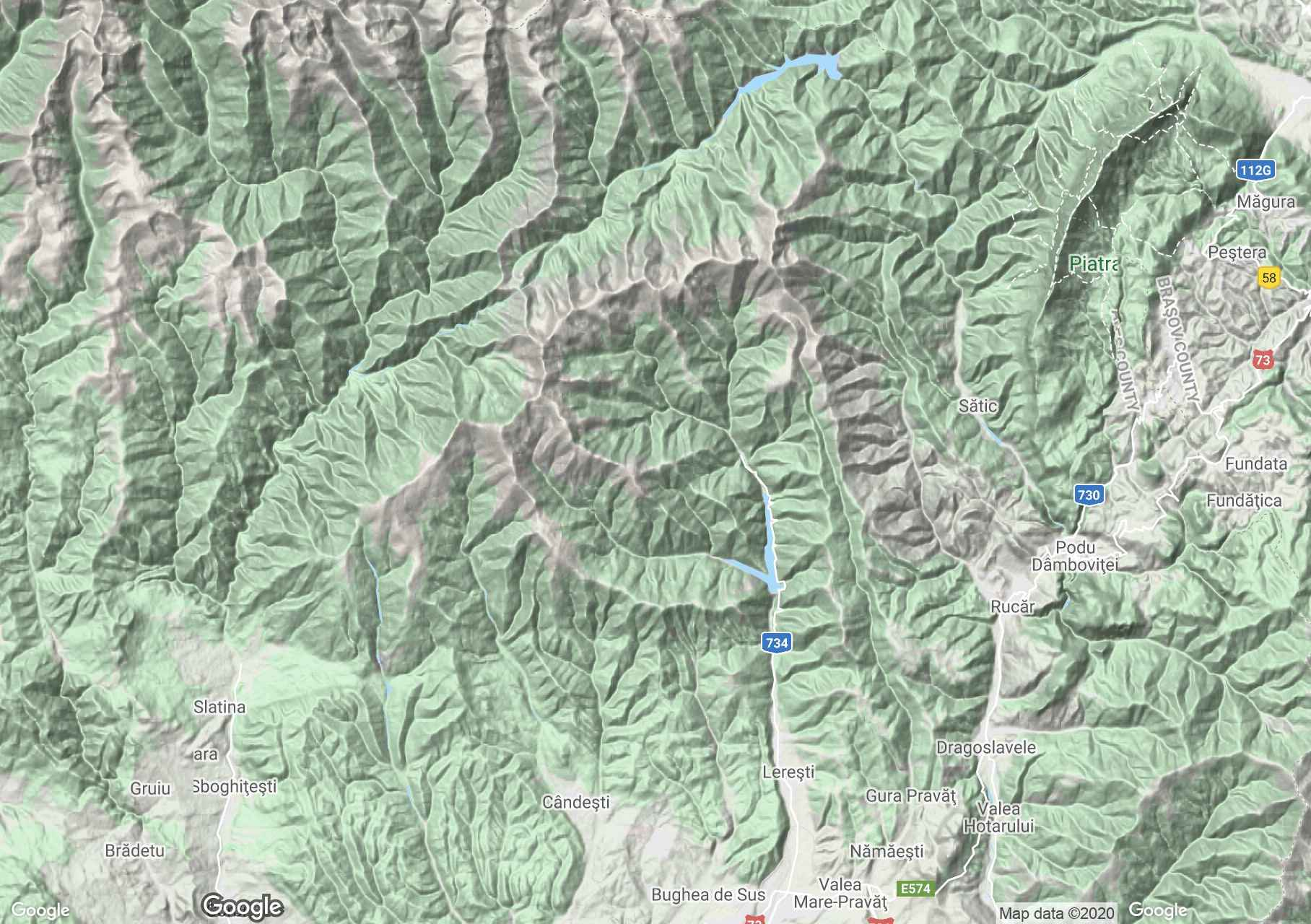 Jézer-Papusa hegység interaktív turista térképe.