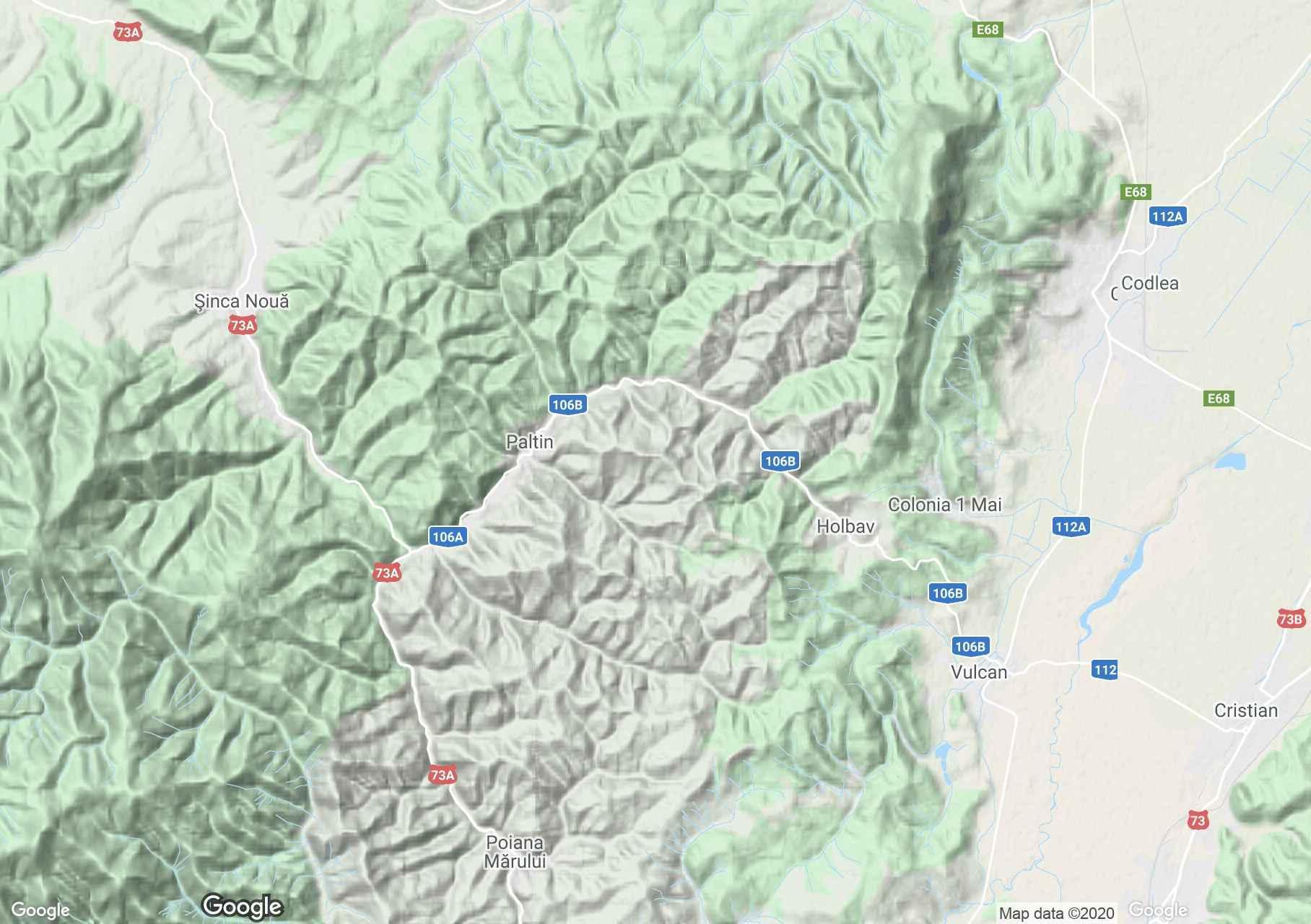 Măgura Codlei Mountains, Interactive tourist map